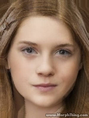 Bonnie Wright and Emma Watson Faces Combined Together -