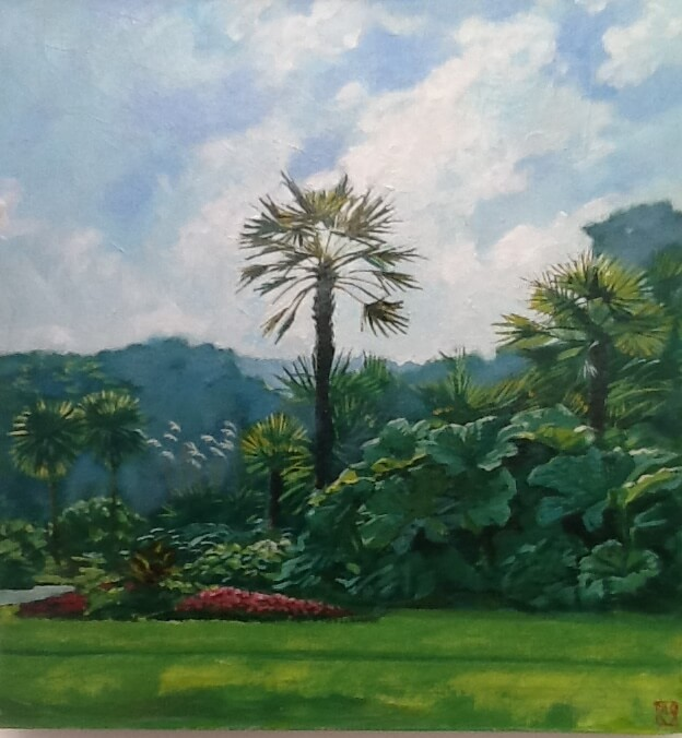 Windmill Palm. A painting by Lee Stevenson