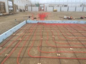 Infloor heat pipe layout