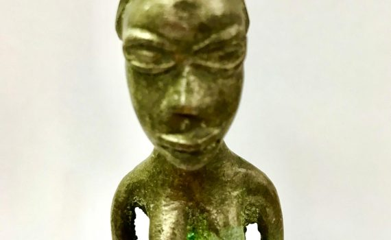 African Bronze Female figure