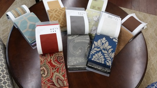Fabric for some of our windows treatments in Staunton, VA