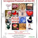 advertisement for The Gingerbread Wonderland Craft Show 2017