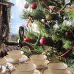 Tea cups and Christmas tree