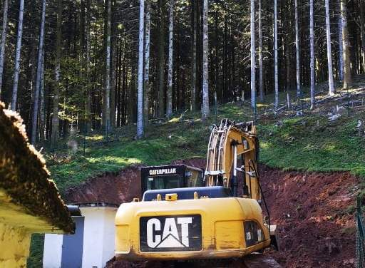 Travaux de restauration du captage d'eau, suite et fin