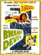 Movie poster for 3-D Bwana Devil