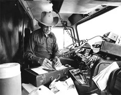 Trucker and his CB Radio