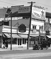 Old Adams Gum Billboard on side of Building