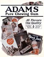Adams Chewing Gum Advertisement