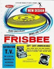 Early Advertisement for Wham-O Frisbee Flying Disc
