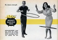 Early Hula Hoop Advertisement