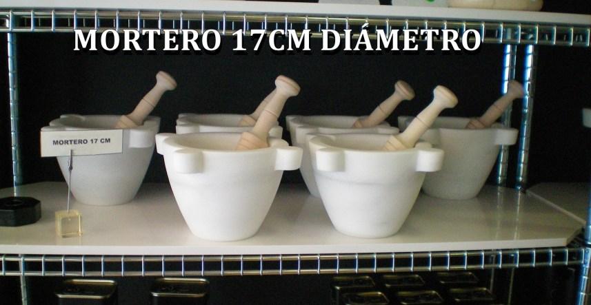 Mortero de marmol blanco Macael 17CM