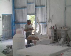 escultura mármol Macael