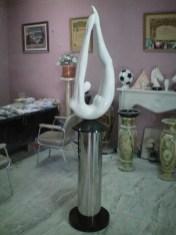 Escultura mármol blanco Macael