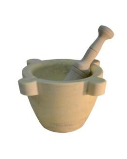 mortero mármol amarillo
