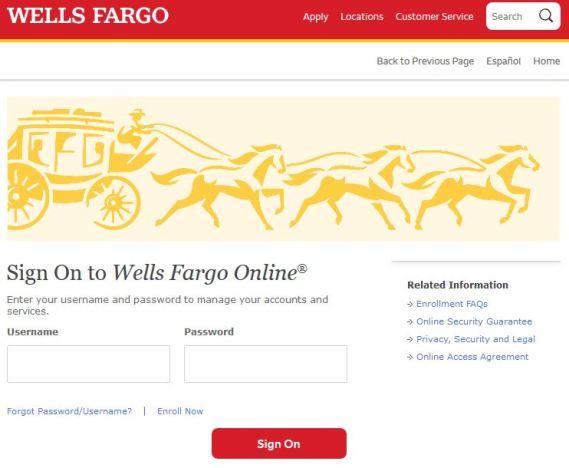 Wells Fargo Mortgage bill payment