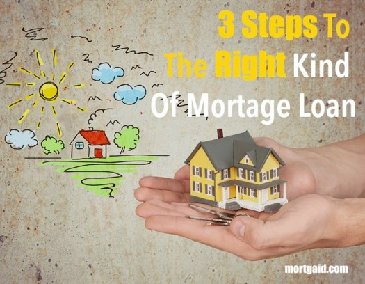 3 steps to the right mortage plan