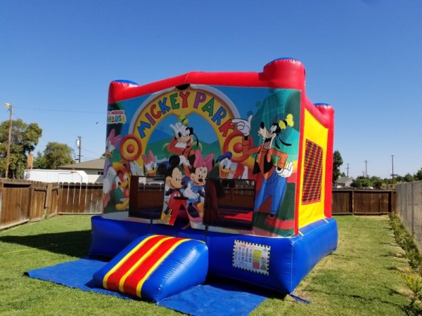 Mickey and Minnie Mouse themed bouncer
