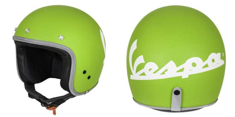 green vespa helmet