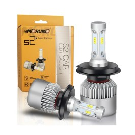 H4 / 9003 LED HEADLIGHT CONVERSIONS S2 CSP 8000 LUMENS 6000K MORUMO