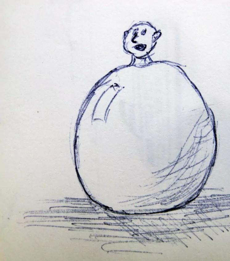 Der Ballonmensch bei Straßenkunstfestival von Lugano