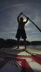 GoPro Shot (mit dem Brustgurt auf der Brettspitze)