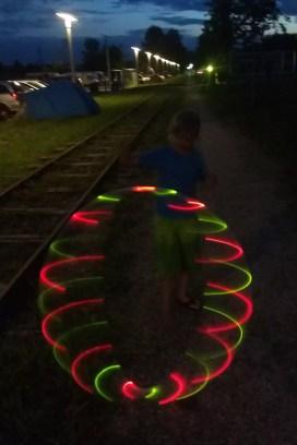 LED-Show so um 22:00 ...