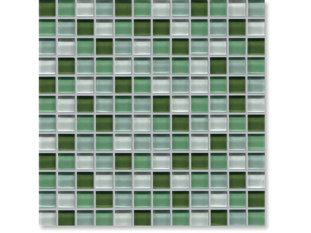 crystal glass green mix gloss mosaic
