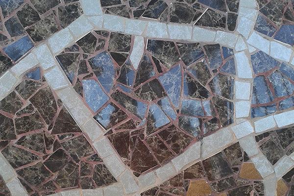 Giraffe Gina detail, La Miranda School, Barcelona.