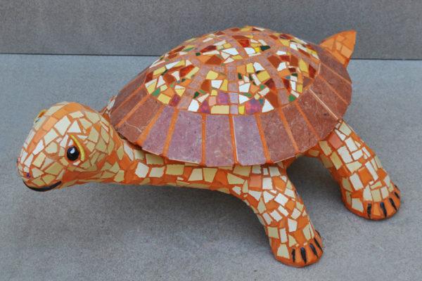 Brown turtle,  70cm 18cm, 25kg.