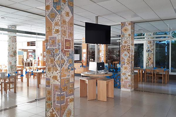 Columns at the library, 2'50cm x 40cm, La Miranda School, Barcelona.