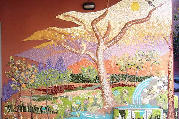 Childish mural with fountain, 3'5m x 2m, Agora Patufet Infant School, Barcelona, 2005.