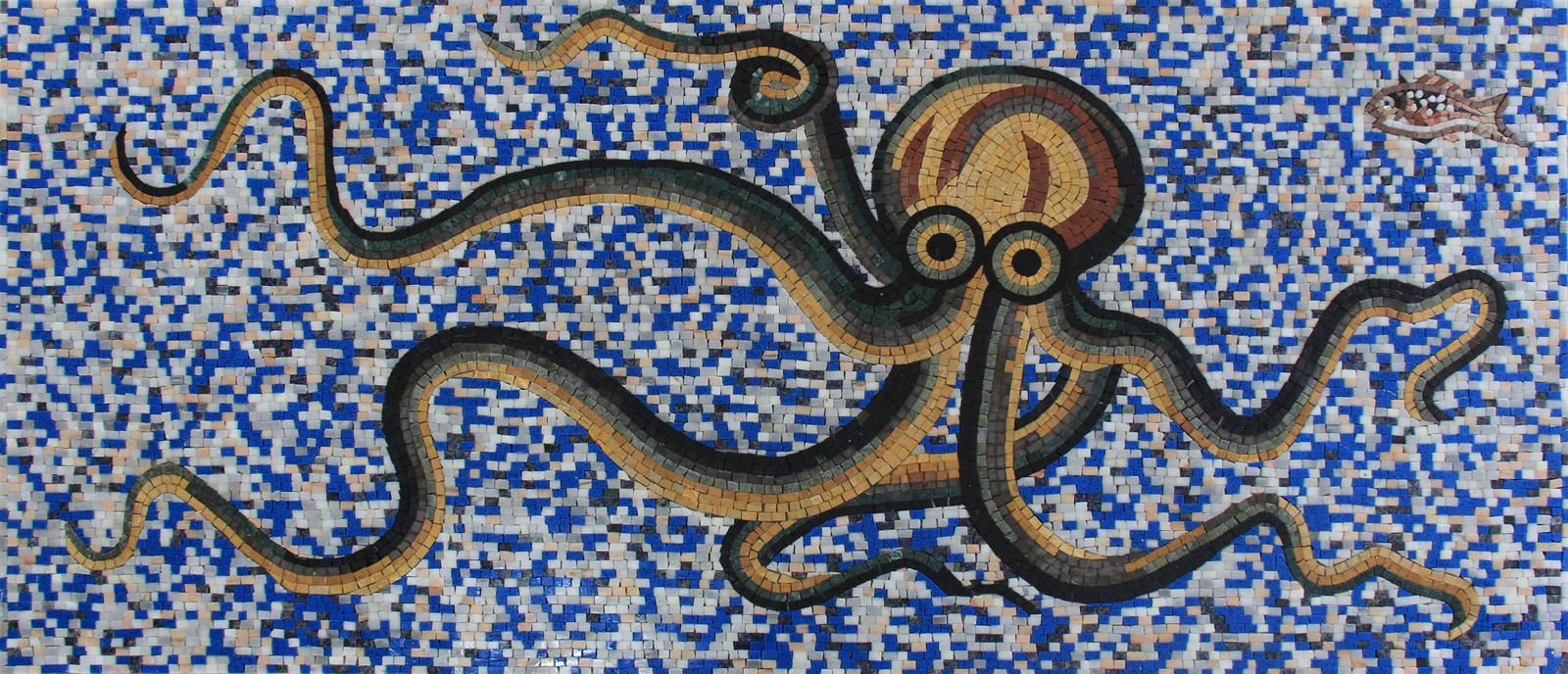 pool mosaic octopus tile art mosaic