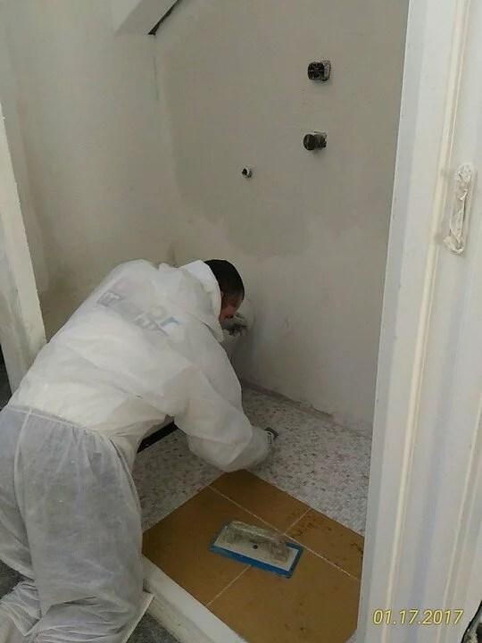 Posa pavimento mosaico Bisazza 10 x 10 su pannelli