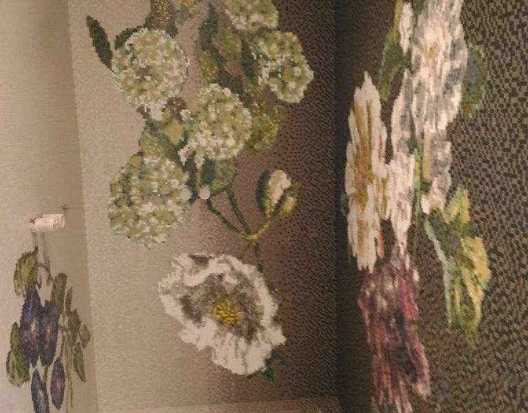 Bagni rivestiti con il mosaico
