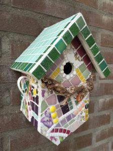 Vogelhuisje mozaïek
