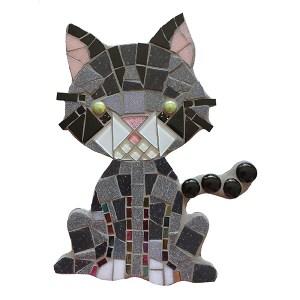mozaïekpakket kat, poes, mosaic cat