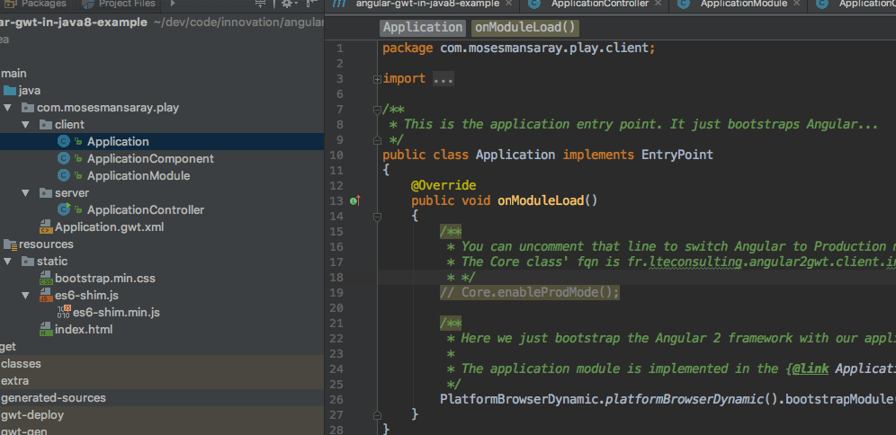 angular2boot intellij Idea