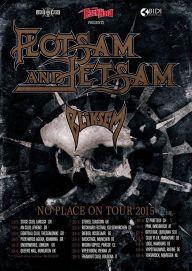 Flotsam and Jetsam 2015 European tour poster 192