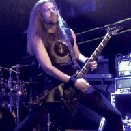 Markus playing with Insomnium in London.
