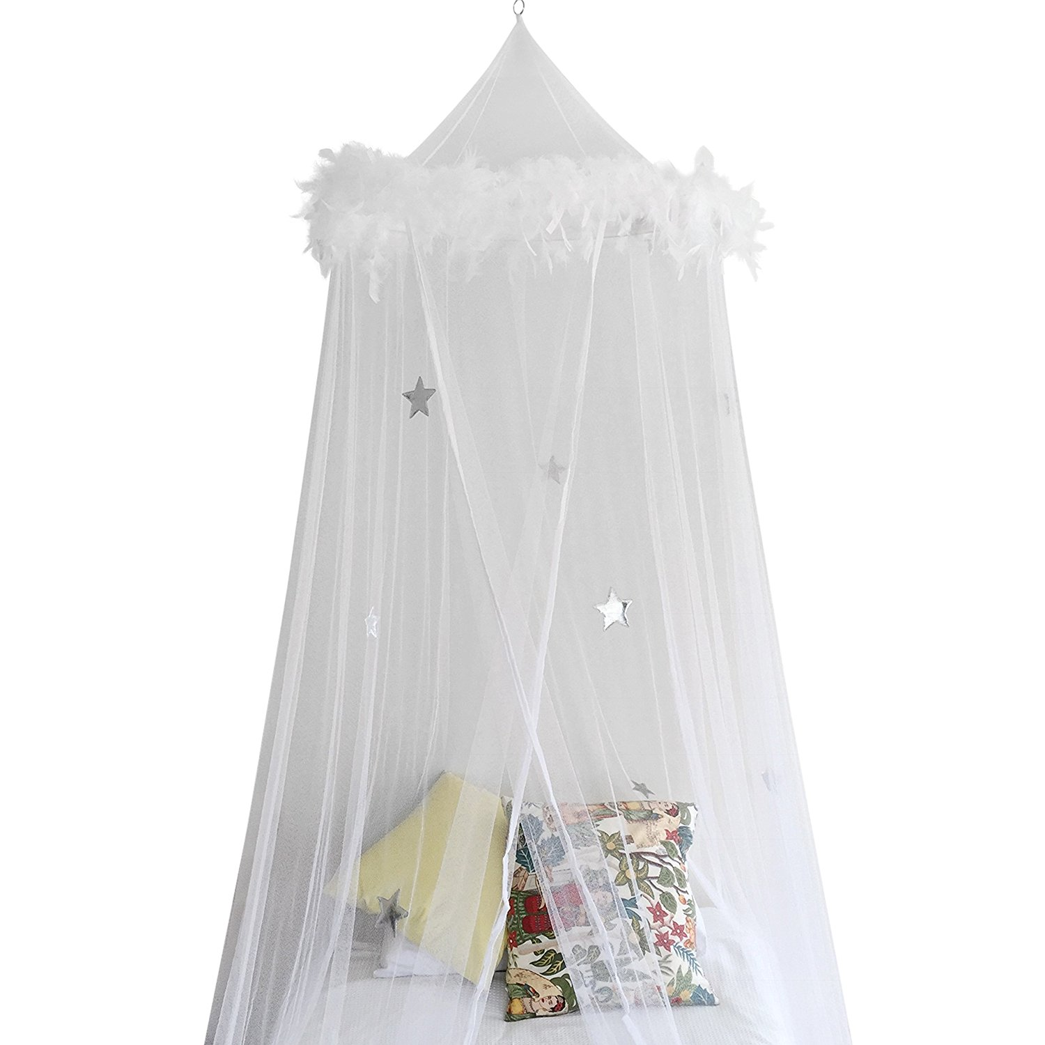 Bed Canopy Mosquito Net Curtains With Feathers And Stars Moski Net