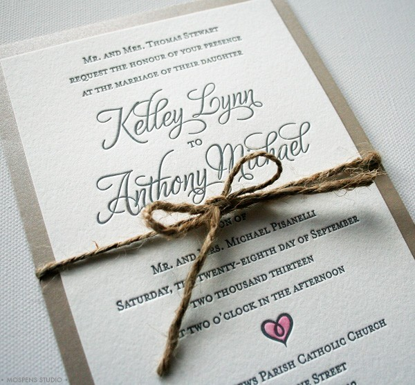 Cheap Letterpress Wedding Invitations