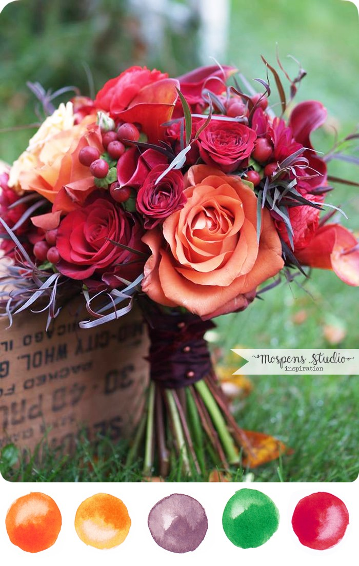Fall Themed Bridal Bouquets