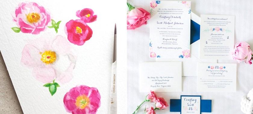 Custom Wedding Invitations Mospens Studio