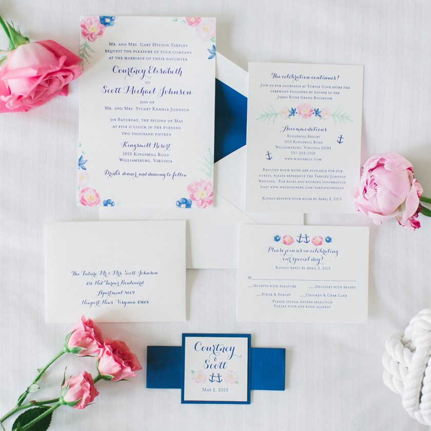 Geous Watercolor Flowers And Letterpress Printed Wedding Invitation Suite By Artist Mice Mospens