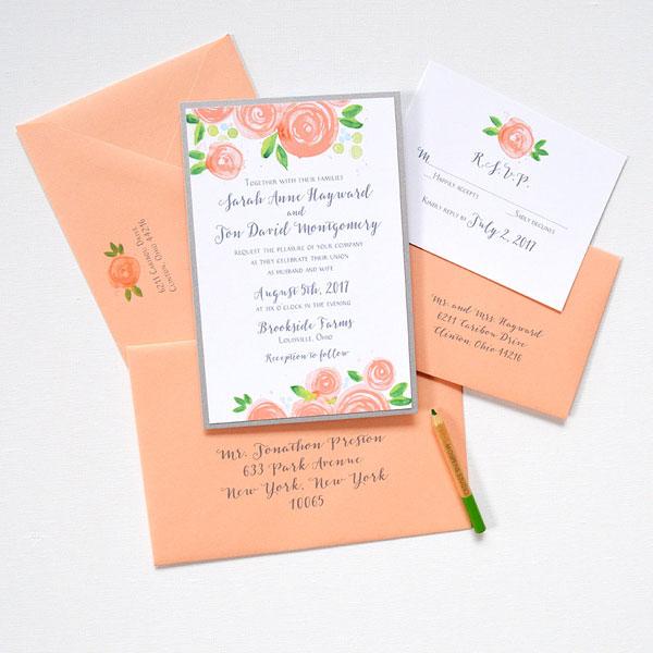 Layered Wedding Invitation Lafayette Indiana