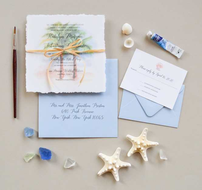 Island Romance Beach Wedding Invitations