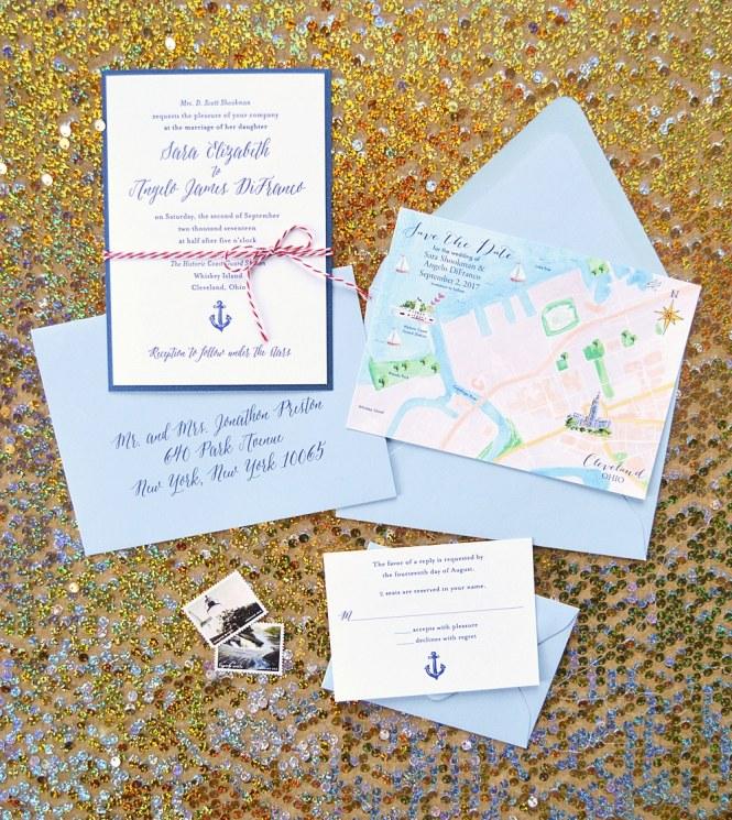 Custom Map Wedding Invitations