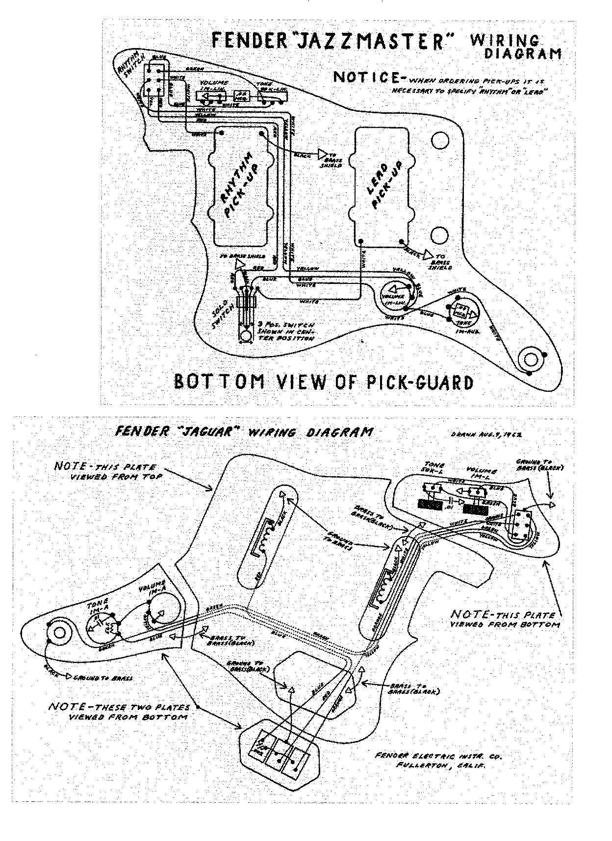 Fender Jaguar Wiring Kit Jaguar Wiring Diagram Jaguar Image Wiring