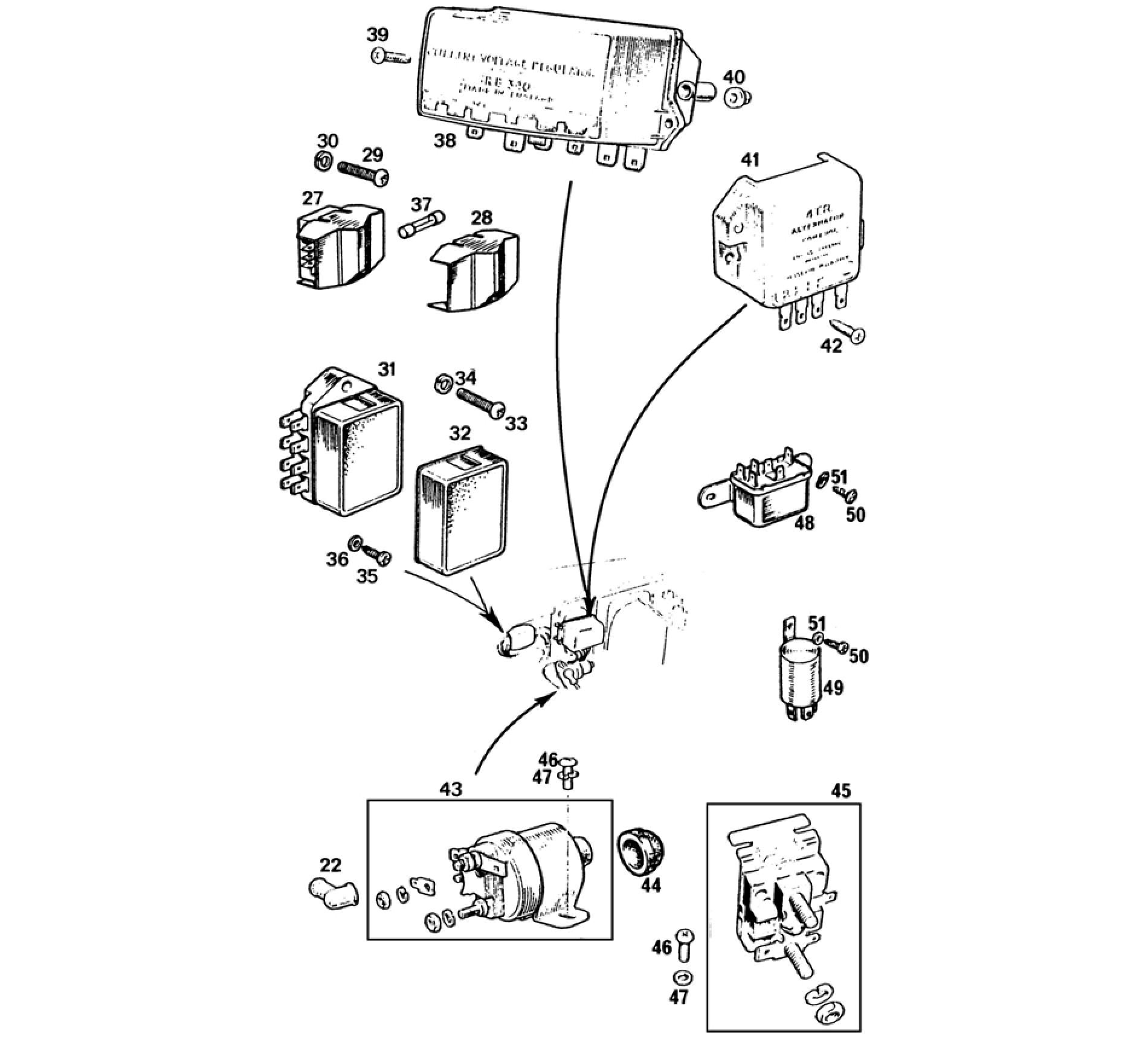 Control Box Relays Solenoid Amp Fuses