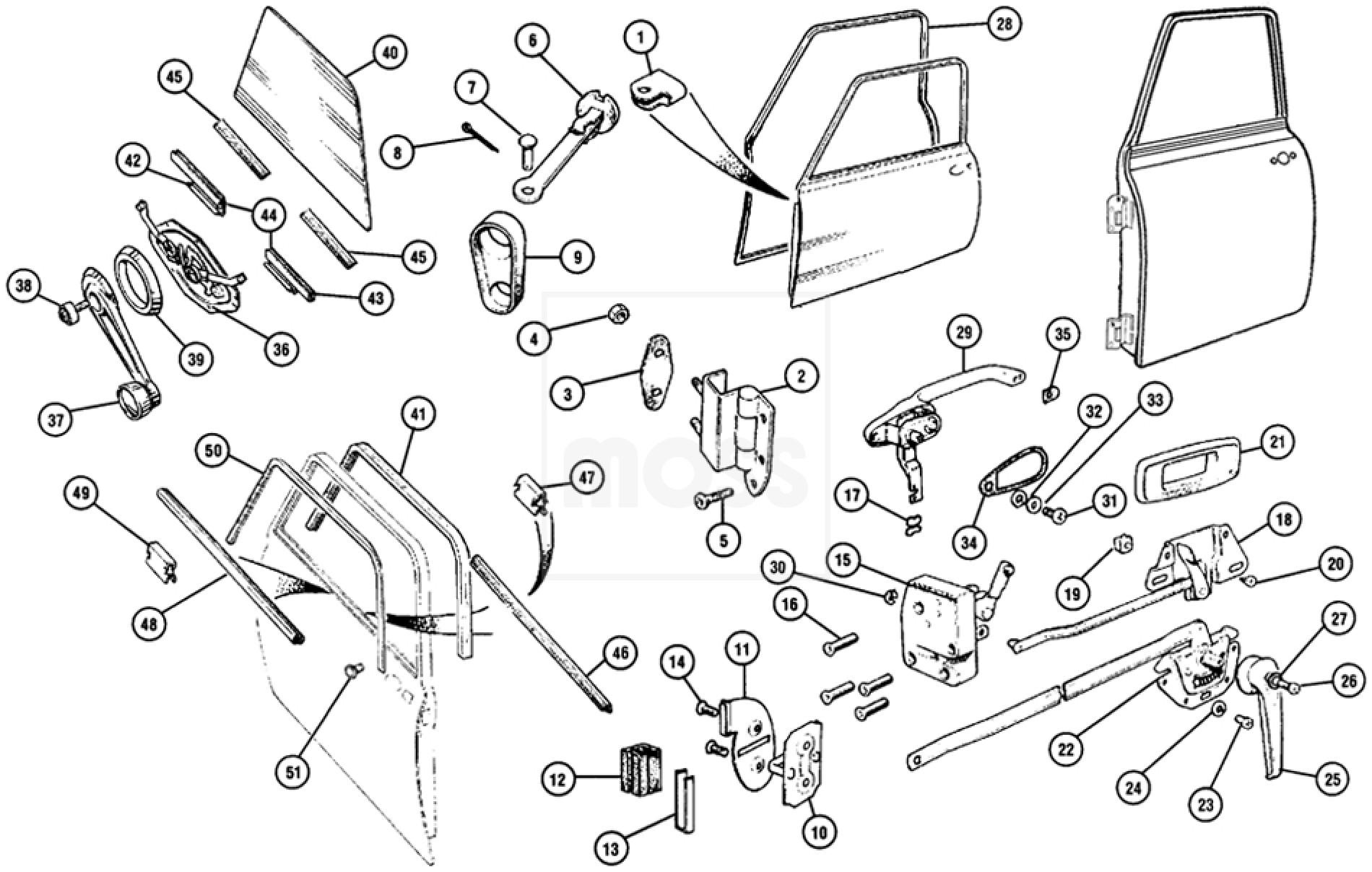 Body Fittings Door Handles Locks Amp Seals